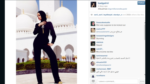 """Singer Rihanna was <a href=""""http://www.cnn.com/2013/10/21/showbiz/rihanna-mosque-pictures/index.html"""">asked to leave</a> when she staged an impromptu fashion photo shoot at the Sheikh Zayed Grand Mosque Center in the United Arab Emirates in October 2013."""