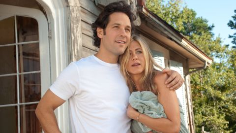 """Jennifer Aniston explored the world of free love and nudity with Paul Rudd in the film """"Wanderlust."""" She <a href=""""http://www.hollyscoop.com/jennifer-aniston/jennifer-aniston-getting-naked-in-movies-is-liberating.html"""" target=""""_blank"""" target=""""_blank"""">has been quoted as saying </a>being nude in movies is """"liberating"""" but <a href=""""http://www.eonline.com/news/433862/jennifer-aniston-talks-being-naked-with-justin-theroux-and-possible-bachelorette-party-plans"""" target=""""_blank"""" target=""""_blank"""">denied to friend Chelsea Handler on her late night talk show</a> that she and her now-husband, Justin Theroux, are nudists."""