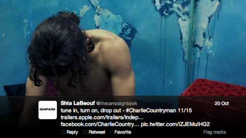 """It's just too easy to make the joke about Shia LaBeouf's loving to be in """"la buff."""" He tweeted a nude photo of himself from the 2013 film """"Charlie Countryman"""" and <a href=""""http://music-mix.ew.com/2012/06/18/shia-labeouf-nude-sigur-ros-video/"""" target=""""_blank"""" target=""""_blank"""">has not been shy about appearing naked</a> in movies and a music video."""