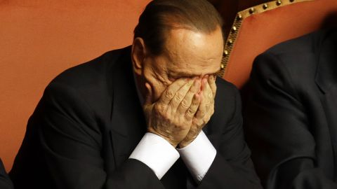 Berlusconi in the Italian Senate in October 2013, a month before he was expelled from Parliament after his conviction for tax fraud.