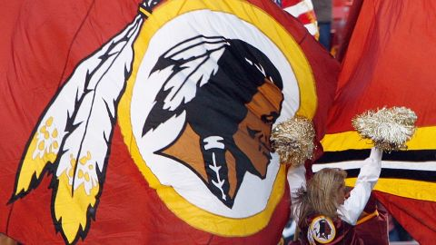 A general view of the Washington Redskins cheer squad as the fly flags during the game of the Philadelphia Eagles on December 21, 2008 at FedEx Field in Landover, Maryland. (Photo by Kevin C. Cox/Getty Images