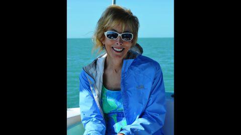 2011: Ellen on a sailboat off the coast of Key West, Florida.