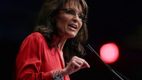"""In the middle of the Republican presidential primaries in February 2012, Palin told the Conservative Political Action Conference that the party needs a candidate who """"can instinctively turn right"""" -- a dig at eventual GOP nominee Mitt Romney."""