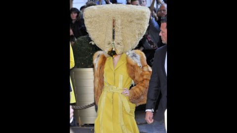 Some observers might've cried fowl when they spotted Lady Gaga's outfit in Berlin on October 24, 2013.