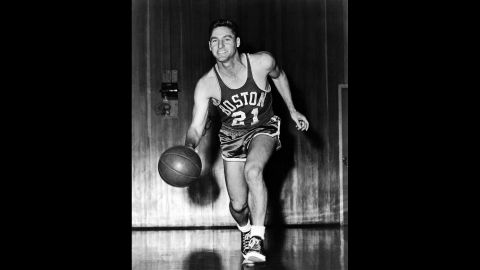 """Basketball Hall of Famer <a href=""""http://www.cnn.com/2013/10/25/us/basketball-bill-sharman-dies/index.html"""" target=""""_blank"""">Bill Sharman</a> -- who won four NBA titles as a player, one as a head coach and five in his club's front office -- died October 25 in southern California, his former teams said. He was 87."""
