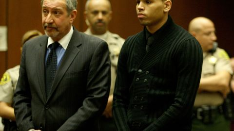 """<strong>March 2009:</strong> <a href=""""http://www.cnn.com/2009/SHOWBIZ/Music/02/15/chris.brown/index.html"""">Brown apologized a week after his arrest.</a> """"Words cannot begin to express how sorry and saddened I am over what transpired,"""" he said. """"I am seeking the counseling of my pastor, my mother and other loved ones and I am committed, with God's help, to emerging a better person."""" He was formally charged with felony counts of assault and making criminal threats that March 5."""