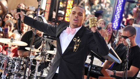 """<strong>February 2010: </strong><a href=""""http://www.cnn.com/2010/CRIME/02/18/chris.brown.hearing/index.html"""" target=""""_blank"""">Brown earned a glowing probation report six months</a> after he was sentenced to """"labor-oriented service"""" for assaulting Rihanna. """"It looks like you're doing really, really well,"""" Judge Patricia Schnegg told Brown during a February 18 probation hearing.  The police chief in Richmond, Virginia -- where Brown was allowed to complete his sentence -- reported the singer had worked 32 days of hard labor. Here Brown performs on NBC's """"Today"""" show in July 2011."""