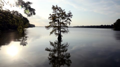 Lake Providence divides a largely poor neighborhood from a richer one in the most economically split place in America.