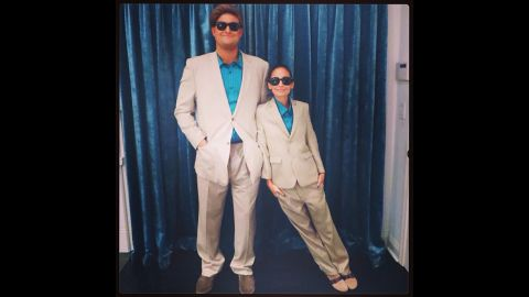 """<a href=""""http://instagram.com/p/f-T_b5pure/"""" target=""""_blank"""" target=""""_blank"""">Nicole Richie</a> channeled the '80s Danny DeVito classic """"Twins"""" for her 2013 Halloween costume."""