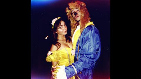 """""""Modern Family's"""" Sarah Hyland settled on a """"tale as old as time"""" for one of her 2013 Halloween costumes. """"Walking Dead"""" fans will definitely appreciate <a href=""""http://instagram.com/therealsarahhyland"""" target=""""_blank"""" target=""""_blank"""">the other one she shared.  </a>"""