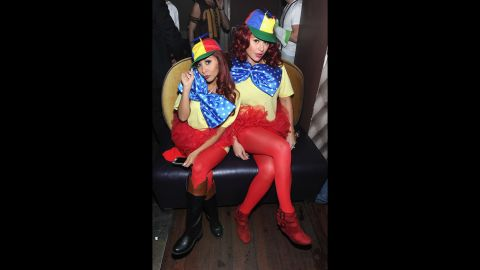 """""""Jersey Shore"""" BFFs Jennie """"JWoww"""" Farley and Nicole """"Snooki"""" Polizzi at least have a sense of humor about their misadventures. The pair went as Tweedledee and Tweedledum to an October 25 Halloween shindig."""