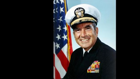 """The ship is named in honor of Adm. Elmo R. """"Bud"""" Zumwalt Jr., who was chief of naval operations from 1970-1974."""