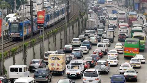 """Manila, capital of the Philippines, is one of the five cities, all in Asia and all projected to be centers of high economic growth, that face """"extreme risk"""" from climate change impacts, according to the Maplecroft report."""