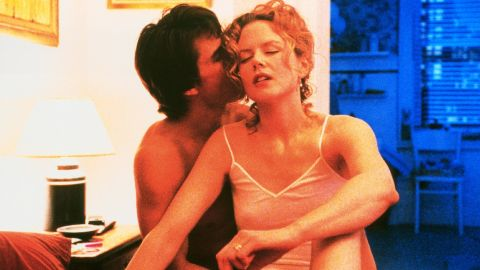 """Tom Cruise and Nicole Kidman were still married when they co-starred in """"Eyes Wide Shut,"""" in which iconic director Stanley Kubrick pushed the envelope. Years later, there is still talk about<a href=""""http://vigilantcitizen.com/moviesandtv/the-hidden-and-not-so-hidden-messages-in-stanley-kubriks-eyes-wide-shut-pt-i/"""" target=""""_blank"""" target=""""_blank""""> hidden messages. </a>"""