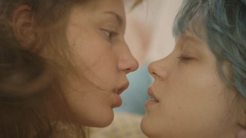 """Adele Exarchopoulos, left, and Lea Seydoux star in """"Blue is the Warmest Color,"""" which drew lots of attention upon its release because of its graphic sex scenes, including one that is more than six minutes long."""