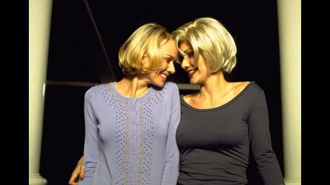 """Naomi Watts, left, and Laura Harring got hot and heavy in """"Mulholland Drive."""""""