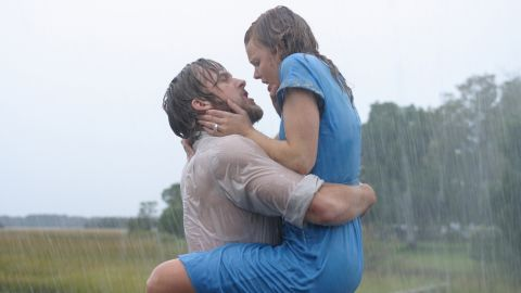 """""""The Notebook"""" has become the gold standard for romantic movies, but one scene in particular will have viewers pausing to rewind. When Ryan Gosling's Noah and Rachel McAdams' Allie Calhoun reunite, not even pouring rain can dampen the sensual scene that follows."""