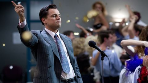 """<strong>Best actor nominees:</strong> Leonardo DiCaprio in """"The Wolf of Wall Street"""" (pictured), Christian Bale in """"American Hustle,"""" Bruce Dern in """"Nebraska,"""" Chiwetel Ejiofor in """"12 Years a Slave"""" and Matthew McConaughey in """"Dallas Buyers Club"""""""