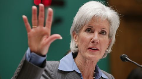 Health and Human Services Secretary Kathleen Sebelius testifies before the House Energy and Commerce Committee hearing about the troubled launch of the Healthcare.gov website on October 30.