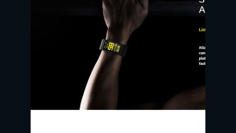 The Atlas team is working on a yet-to-be-released wristband that keeps track of running and walking as well as exercises such as pushups, bicep curls and squats.