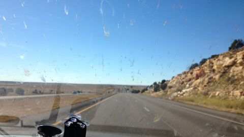 On some of the more barren stretches, the team reached speeds of up to 158 mph.