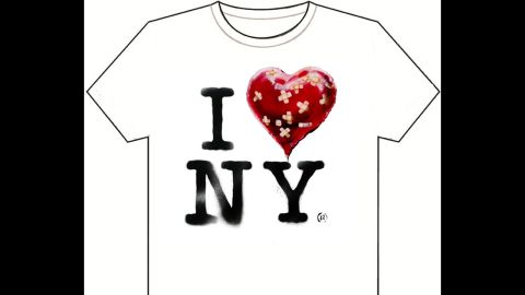 Banksy also offered up a T-shirt design on his website for fans to download and print on their own.