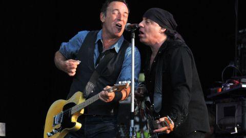 Bruce Springsteen and Steven Van Zandt perform July 14, 2012, in London.
