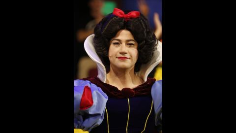 """Jimmy Kimmel got his guys on the Halloween episode of his late night show """"Jimmy Kimmel Live"""" to dress as Disney princesses. His Snow White was on point."""