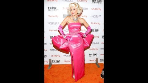 """Talk show host and former """"Real Housewives of New York"""" cast member Bethenny Frankel attended Heidi Klum's party as Marilyn Monroe."""