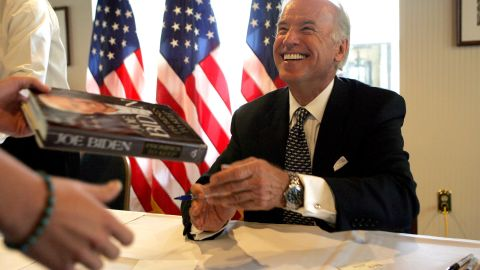 """Biden releases his memoir, """"Promises to Keep: On Life and Politics,"""" in 2007."""