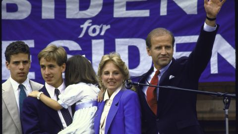 Biden announces his candidacy for the Democratic presidential nomination in 1988. After three months he drops out, following reports of plagiarism and false claims about his academic record.