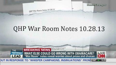 exp Lead Obamacare war room docs higher fees fewer options_00002001.jpg