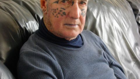 """Tom Leppard -- the so-called """"Leopard Man of Skye"""" -- shot to fame after becoming the world's most tattooed man -- a crown he held until recently. His entire body is covered with leopard spots."""