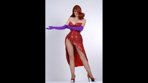 """Annette Edwards, a British mother of 10, spent more than 10,000 pounds to transform herself into a real-life Jessica Rabbit, an animated character in the movie """"Who Framed Roger Rabbit?"""""""