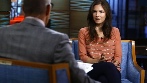 """Amanda Knox appears on NBC's """"Today"""" show. <a href=""""http://topics.cnn.com/topics/amanda_knox"""">Knox </a>spent four years in jail because of murder charges in the death of her roommate Meredith Kercher while studying abroad in Perugia, Italy."""