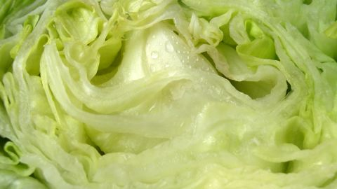 """<strong>Iceberg lettuce</strong><br />Water content: 95.6%<br /><br />Iceberg lettuce tends to get a bad rap, nutrition-wise. Health experts often recommend shunning it in favor of darker greens like spinach or romaine lettuce, which contain higher amounts of fiber and nutrients such as folate and vitamin K.<br />It's a different story when it comes to water content, though: Crispy iceberg has the highest of any lettuce, followed by butterhead, green leaf and romaine varieties.<br />So when the temperature rises, pile iceberg onto sandwiches or use it as a bed for a <a href=""""http://www.health.com/health/gallery/0,,20401749,00.html"""" target=""""_blank"""" target=""""_blank"""">healthy chicken salad</a>. Even better: Ditch the tortillas and hamburger buns and use iceberg leaves as a wrap for tacos and burgers."""