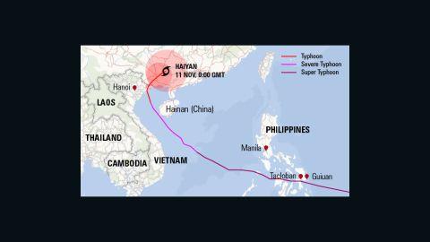 Haiyan's track