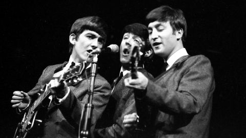 """<strong>The Beatles were against wearing suits.</strong> Again, not true, says Lewisohn. Though Lennon later trashed the neat look as a sellout demanded by manager Brian Epstein, in the early '60s they were eager for a change. """"I just saw it as playing a game,"""" said Harrison. """"I'll wear a f****** balloon if somebody's going to pay me!"""" said Lennon."""