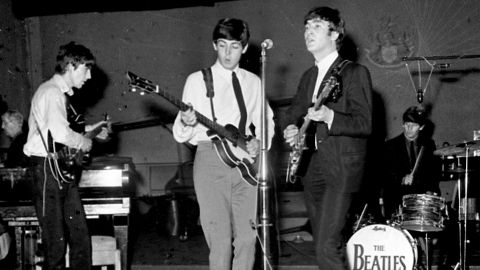 """<strong>John Lennon once said that Ringo Starr not only wasn't the best drummer in rock, he </strong><a href=""""http://www.calicreations.com/juelle/lesson20ringo.html"""" target=""""_blank"""" target=""""_blank""""><strong>wasn't the best drummer in the Beatles</strong></a><strong>.</strong> Biographer Mark Lewisohn says this is a line from a TV comedy sketch in the 1980s -- after Lennon died. The Beatles actually defended Ringo strongly over the years."""