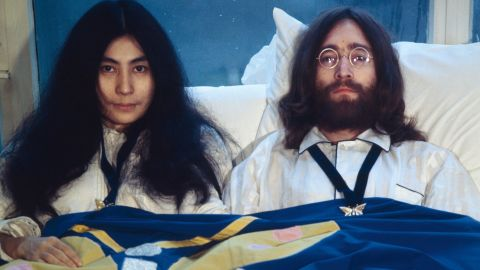 """<strong>Yoko Ono broke up the Beatles.</strong> Oh, if only Yoko hadn't stolen John away from the group, they would have stayed together! Right. Actually, the Beatles were already fragmenting -- Ringo temporarily left during the making of the White Album, and George walked out during the """"Get Back"""" sessions -- and financial issues were getting in the way of the music. Lennon was ready for something new, but everybody was tired."""