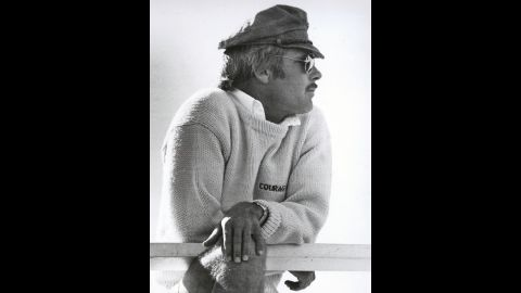 """Turner won the America's Cup, a prestigious sailing competition, in 1977. His racing yacht was named """"Courageous,"""" emblazoned on his sweater."""