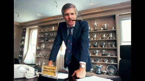 Turner at his desk in 1985.