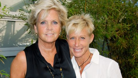"""Former """"Family Ties"""" star Meredith Baxter, left, reportedly tied the knot with girlfriend Nancy Locke in December 2013. <a href=""""http://www.people.com/people/article/0,,20764010,00.html"""" target=""""_blank"""" target=""""_blank"""">According to People magazine</a>, the couple wed in an intimate ceremony in Los Angeles. Baxter, 66,<a href=""""http://www.cnn.com/2009/SHOWBIZ/TV/12/02/meredith.baxter.lesbian.mom/index.html?iref=allsearch""""> confirmed</a> rumors about her sexuality in 2009, plainly telling the """"Today"""" show, """"Yes, I'm a lesbian."""""""