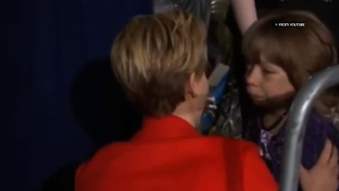"""When walking the red carpet at a """"Hunger Games: Catching Fire"""" premiere in the UK, Lawrence stepped off to the side to comfort a young fan in a wheelchair. Although the video that caught the moment doesn't capture their verbal exchange, Lawrence's gentle and compassionate gestures speak volumes."""