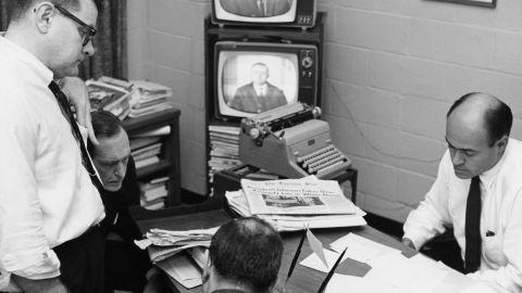 The NBC News Bureau covers the assassination President of John F. Kennedy.