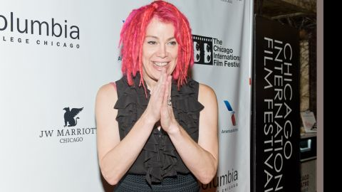 """Filmmaker Lana Wachowski attends a tribute to the late film critic Roger Ebert in October 2013 in Chicago. Born Larry Wachowski, he made the """"Matrix"""" trilogy with brother Andy Wachowski before transitioning to living as a woman. Wachowski is the first major Hollywood director to come out as transgender."""