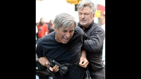 """In August 2013, both Baldwin and a photographer called the police to report an incident in New York. Apparently a standoff ensued after the photographer got too close for Baldwin's liking while he was with Hilaria. Baldwin has had several disputes<a href=""""http://www.cnn.com/video/data/2.0/video/showbiz/2013/08/28/newday-dnt-turner-alec-baldwin-paparazzi.cnn.html""""> with paparazzi. </a>"""
