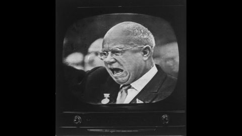 Nikita S. Krushchev speaking to East German Communist Party Congress on January 14, 1963