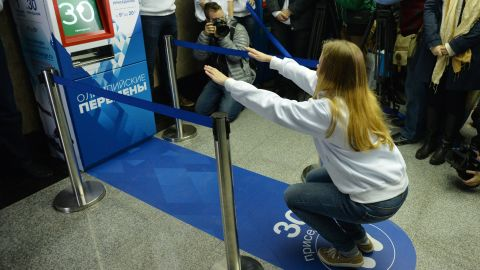 The fitness initiative is part of Russia's promotion of the upcoming Winter Olympics in Sochi.