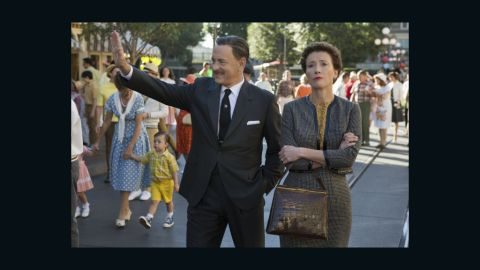 """""""Captain Phillips"""" isn't Tom Hanks' only awards season movie inspired by true life. In """"Saving Mr. Banks,"""" Hanks plays Walt Disney himself as he wooed the skeptical """"Mary Poppins"""" author P. L. Travers (Emma Thompson) to make the now-classic 1964 film. Colin Farrell and Paul Giamatti also star. (Release date: December 20)"""